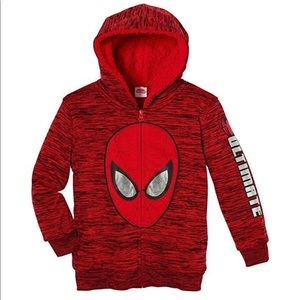 Boys Spider-Man Character Sherpa Lined Hoodie